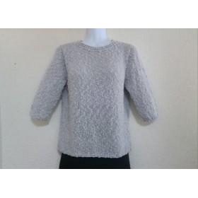 ちょっと長めの半袖セーター