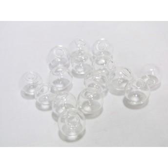 15個 ガラス ドーム 約18mm 透明 セット 320 部材 アクセサリー パーツ 透明 約18mm