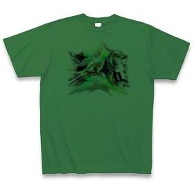 シンシソウ◆アート文字◆ロゴ◆ヘビーウェイト◆半袖◆Tシャツ◆グリーン◆各サイズ選択可