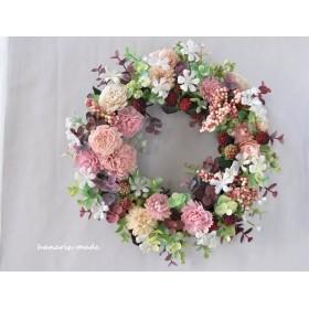 フランボワーズとピンクの実:wreath
