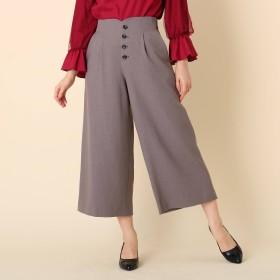 Couture Brooch(クチュールブローチ)/【WEB限定サイズ(S・LL)あり】フロントボタン ワイドミディパンツ