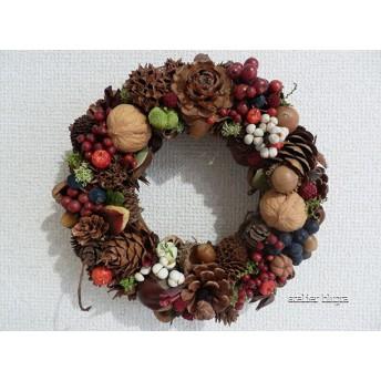 atelier blugra八ヶ岳〜静かな森の木の実Wreath10