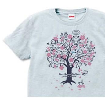 【再販】チェリーブロッサム・パンダ S~XL Tシャツ【受注生産品】