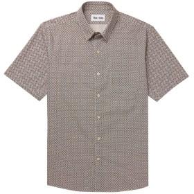 《期間限定セール開催中!》THORSUN メンズ シャツ ダークブラウン XS コットン 100%