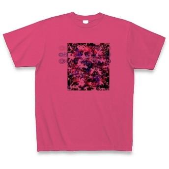 有効的異常症候群黒白◆アート文字◆ロゴ◆ヘビーウェイト◆半袖◆Tシャツ◆ホットピンク◆各サイズ選択可
