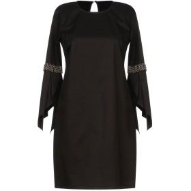 《セール開催中》ELISABETTA FRANCHI 24 ORE レディース ミニワンピース&ドレス ブラック 38 コットン 96% / ポリウレタン 4%