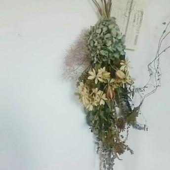 紫陽花スワッグ〜アンティーク紙付き