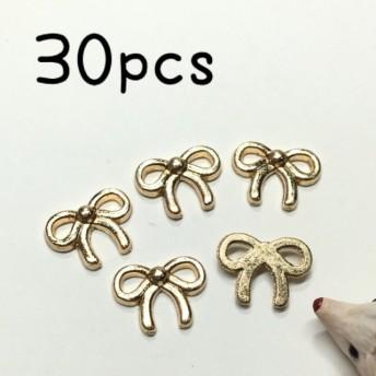 (30個)小さめ貼り付け用ミニリボンチャーム