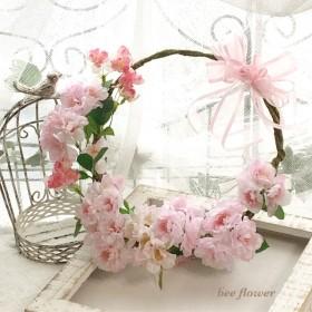 八重桜のリースブーケ〜Le beau cerisier〜【minne限定販売】