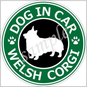 犬 コーギー 防水ステッカー 車用_CORGI sticker