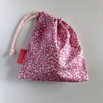 ミモザの巾着 ピンク