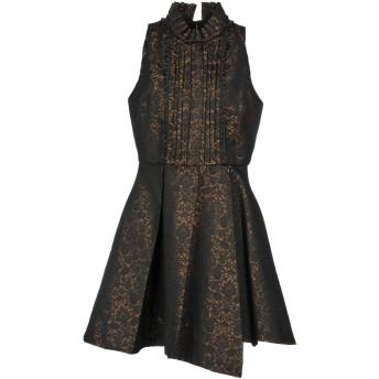 《セール開催中》MANGANO レディース ミニワンピース&ドレス ブラック 44 ポリエステル 55% / コットン 32% / アクリル 9% / 指定外繊維 4%