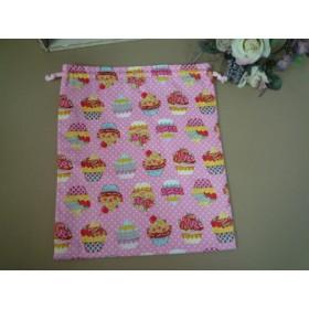 商品入れ替えセール♪ 巾着(L) カップケーキ♪