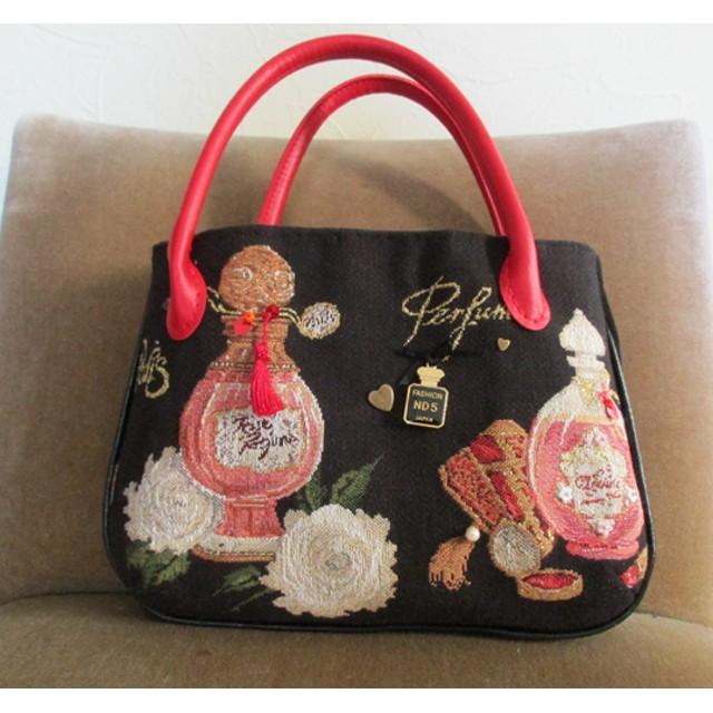 アクセサリーバッグ-香水瓶(ゴブラン織り)