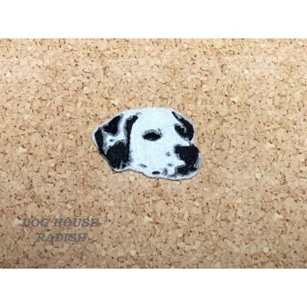 ダルメシアン ワッペン 刺繍 ダル 犬 アップリケ 犬