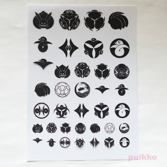 家紋・兎と雁 レジン封入用フィルム