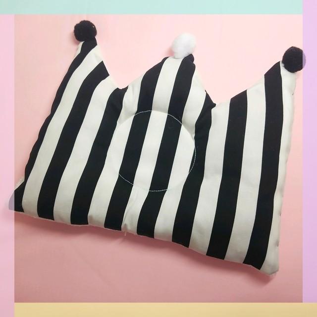 ベビーピロー モノトーン 白黒 ストライプ ハンドメイド 赤ちゃん枕 オリジナル