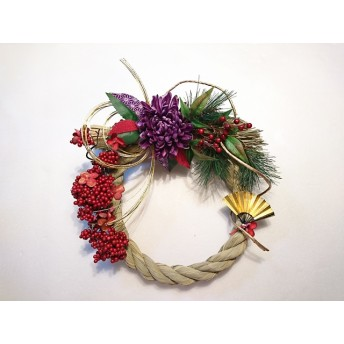 正月飾り しめ縄 アーティフィシャルフラワー アレンジメント