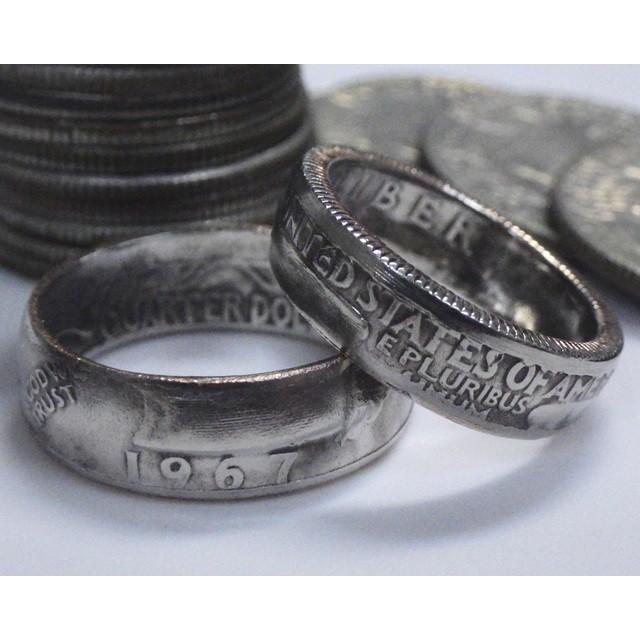 コインリング アメリカ25セント クォーターダラー 白銅貨 1965-1998(1975/76除)古金風