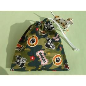 給食セット.40×60cmランチョンマット&巾着◆迷彩・フレンチブルドッグ