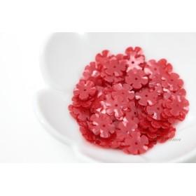 スパンコール 約7.6g分 5枚花びら10mm マット半透明赤(SF510MRDBJHS)