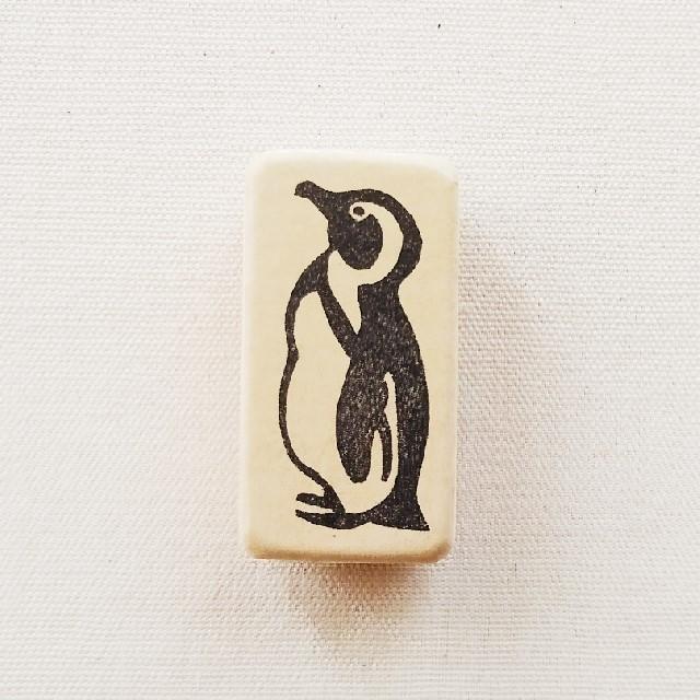ゴム版はんこ《ケープペンギン》