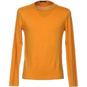 《セール開催中》ROBERTO COLLINA メンズ プルオーバー オレンジ 48 麻 96% / ポリウレタン 4%