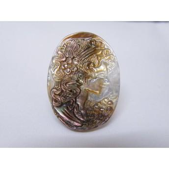 【一点物】SHELL(貝殻)約20×30mm 彫り物B 売切