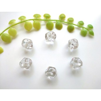 氷 チェコガラスビーズ