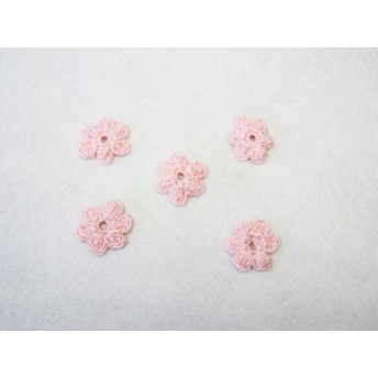 レース編みのお花モチーフ 5個1セット