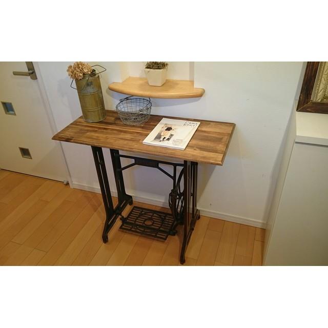 JANOMEアンティークミシン脚テーブル