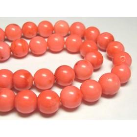 珊瑚(染色) 連販売 ピンク ラウンド 約10mm 3000706