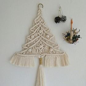 送料無料 マクラメクリスマスツリー