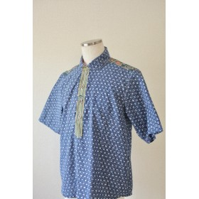 Men's 伝統文様の粋な浴衣半袖シャツ (no.193)
