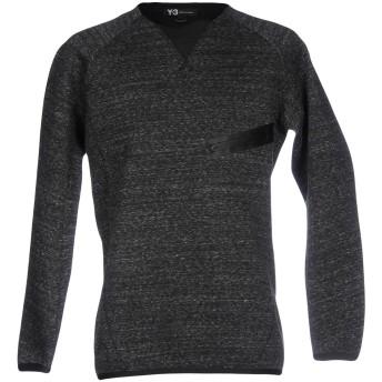 《セール開催中》Y-3 メンズ スウェットシャツ 鉛色 XS コットン 74% / ポリエステル 26% / ポリウレタン
