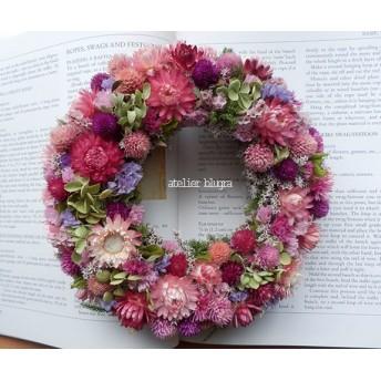 atelier blugra八ヶ岳〜アナベルと小花のWreath09