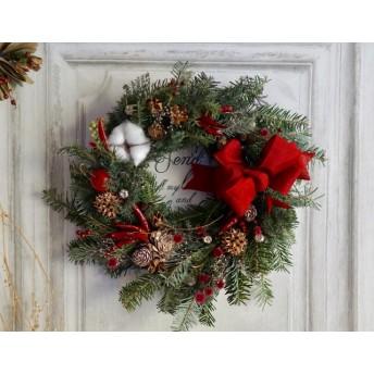 'xmas wreath' フレッシュなモミのクリスマスリース サンク ロンディネ