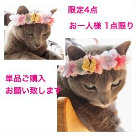 猫用 花冠 トロピカル風