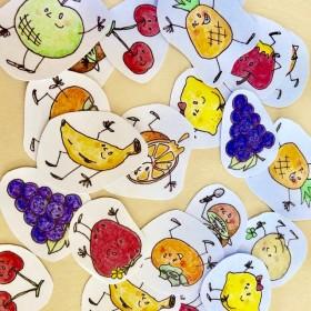 フルーツ達のかわいいプチシール★☆