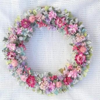 秋紫陽花の優しさ色リース