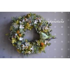 春を呼び込む小鳥wreath