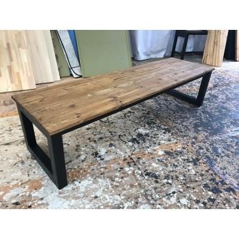 hotaru 男前家具 ロング ローテーブル リビングテーブル ソファーテーブル オーダー可 天然木 無垢材