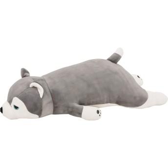 りぶはあと 抱き枕 プレミアムねむねむアニマルズ ハスキー犬のミント Mサイズ W56xD22xH14cm 48769-72