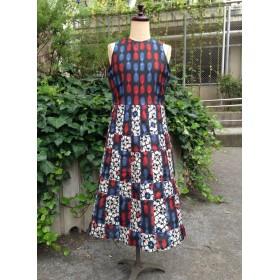 kimono服 アメリカンスリーブの編み込みワンピース