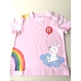 名前入れ 手描きTシャツ【虹うさぎ】