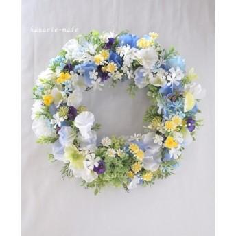 spring blue & violet:little flowers wreath