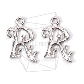 PDT-1858-MR【2個入り】イニシャルペンダント,Alphabet Initial, Letter pendant