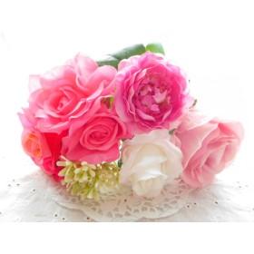 34花*ピンク系*8本*アーティフィシャルフラワー