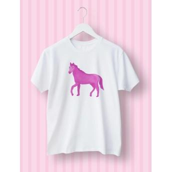 ピンクの馬 ユニセックスTシャツ