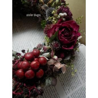 八ヶ岳〜ジニアと薔薇のBordeauxWreath